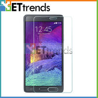 High transparents tempered glass screen protector for samsung galaxy note 4