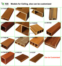 New material waterproof wood plastic composite wpc ceiling