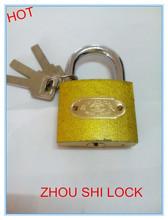Golden flash padlock with normal keys