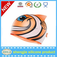 Wholesale promotional customed cartoon swimming cap with factoty price