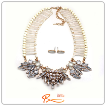 Hot sell delicate multicolor jewelry set beads necklace set
