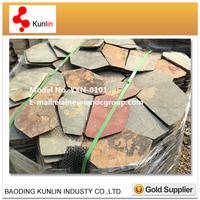 Outdoor Natural Flag Stone / Rusty Paving Stone Cheap Paving