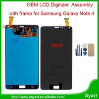 Free DHL 10pcs/Lot 100% tested Original LCD Screen Dispaly Digitizer Assembly For Samsung Galaxy Note 4 N9100 5.7inch