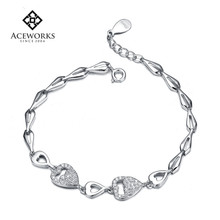 Wholesale Fashion Diy 925 Sterling Silver Chain Bracelet