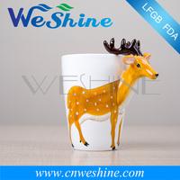Creative 3D Stereoscopic Hand-painted Cartoon Animal Ceramic Mug