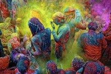 Holi Festivals Celebrations Occasions Gulal Powder Color Fun Play Party
