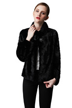 Hot Sale New Style New Fashion Women Sexy Natural Mink Fur Coat Black Fur Jacket