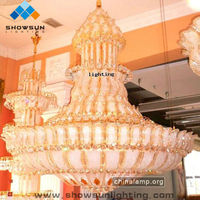 Big decoration crystal chandelier for church