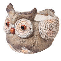 fibraclay resin garden hedgehog owl plant pot garden decoration flower pot