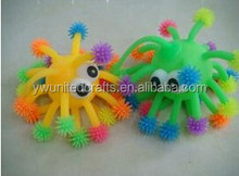2015 Hot sales fashion TPR toys,The snowflake ball protruding eyes,plastic toys