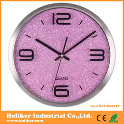 fashion design decorative wall clocks with aluminium frame , frosted dial and glass