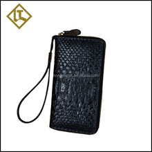 China directly factory customized crocodile skin leather brand wallet