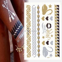 Men adhesive tattoo wrist designs big crown design gold henna stencil small rose gold long lasting waterproof jewelry temporar