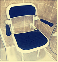 New design multifuncation foldable wall mounted shower chair//folding shower chair with CE