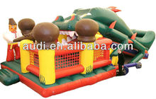 olk hero fighting with a dragon inflatable slide with bouncer combo