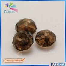Wuzhou Facets Gems Sale Round Ball Cut Coffee 8mm Round Gemstone Beads Hot Selling