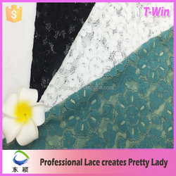 Beautiful lace stocklot african knitted lace fabric wholesale