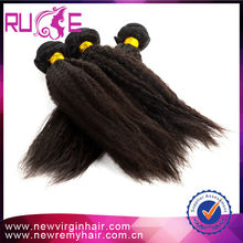 100% new arrival light brown two tone Three tone ombre kinky baby straight hair