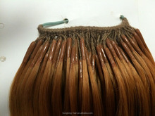 New type korea Twins hair extension one cotton thread and one strand hair Extension