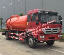 Sinotuck ouro príncipe SDRC 8 cbm caminhão de sucção de esgoto vácuo caminhões para vendas