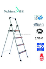 4 steps ultra light Alum ladder with wood coating(white support)