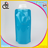 Eco-friendly plastic flat water bottle/stand up portable water bag