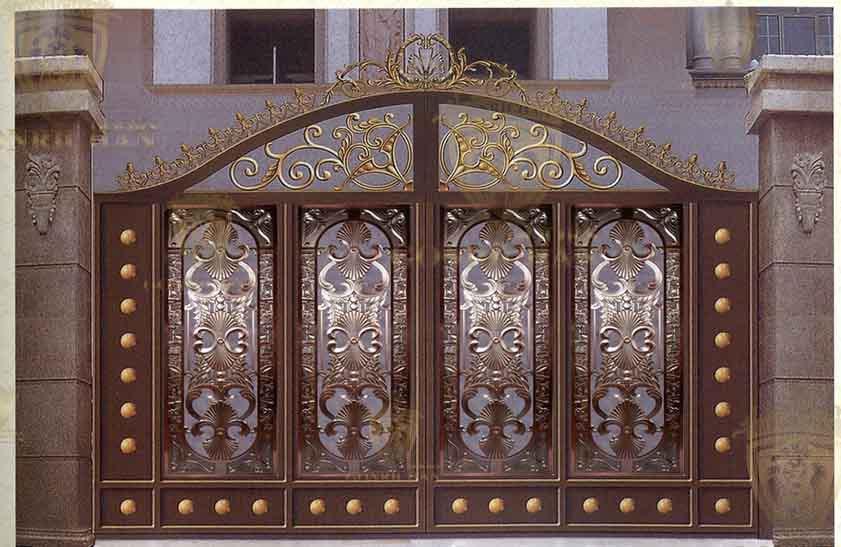 Front door designs wrought iron villa gate designs for Villa entrance door designs