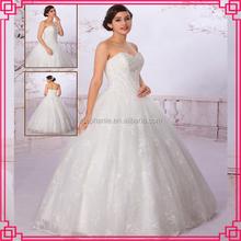 2015 Guangzhou Stephanie Wedding Dress A6936 Top bride Sweetheart Neckline Heavy Beaded Tulle Fabric Saudi Arabian Wedding Dress