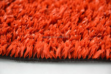 Red artificial grass for track