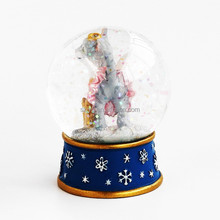 Fashion Resin Crystal Snowman Figurines for Christmas Resin Water Polo Ball Statues