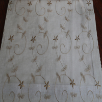 Newest modern 100% polyester voile embroidered drapery fabric curtain
