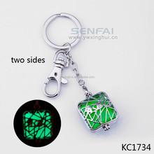 Alice in Wonderland Keys - Steampunk Keys - Keychain - Key Charms - Glowing Crystals