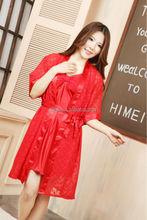 Hot sale mature red nightgown sexy nightwear sexy dress sexy lingerie