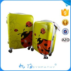 royal polo luggage trolley case traveling bags animal print luggage