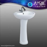 D601 Sanitaryware Pedestal Basin/Wash Basin Hair Salon Wash Basins Hand Sink