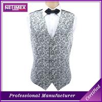 Men's cheap fashion wholesale polyester waistcoat vest design waistcoat