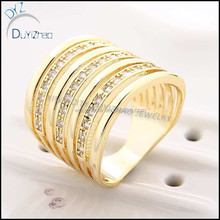 cheap brass cz finger gold ring designs in stock
