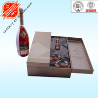 Promotional paper packaging box for wine bottle carrier certificated by ISO,BV,ex factory price!!!