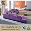 I shaped low price living room wooden sofa