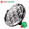 Round 4x4 jeep accessories 12v 24v 7 inch led headlight, hot 7 inch 75w led head light