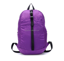 Hot-sale fashion nylon hiking sports students folding backpack with assorted colors selling factory directly made in China