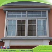 Cheap white color 4 pane duoble pane PVC interior sliding window