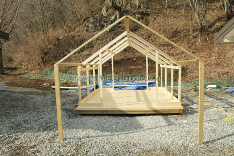 Permanent Canopy Shelter : Canvas waterproof permanent outdoor glamping tent