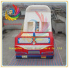 Ruilin inflatable fire truck slide,inflatable double lane slip slide
