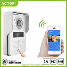 ACTOP New Night Vision android/iphone wifi door bell camera with ID card unlock