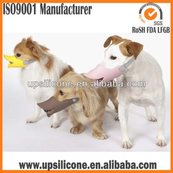japanese design cute silicone dog muzzles for promotional gift bark bite stop duck face dog muzzles