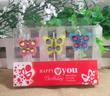 Glitter Butterfly Shaped Birthday Candle Wholesale Walmart Candle Import