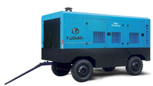 Single Stage Compression Portable Diesel Engine Screw Air Compressor