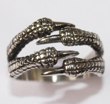 stainless steel jewelry eagle claw shaped skull ring
