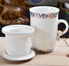 hot sale 10oz ceramic tea cup with infuser